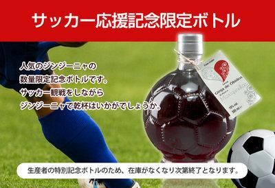 ≪在庫処分セール≫ジンジーニャ・サッカーボール型ボトル(さくらんぼのリキュール、果実入り)500ml