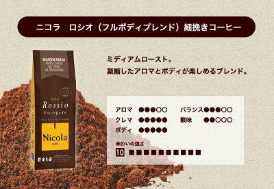 ニコラ ロシオ(フルボディブレンド)細挽きコーヒー250g