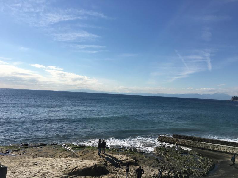 年内ラストのジョギングで鎌倉の海を撮影