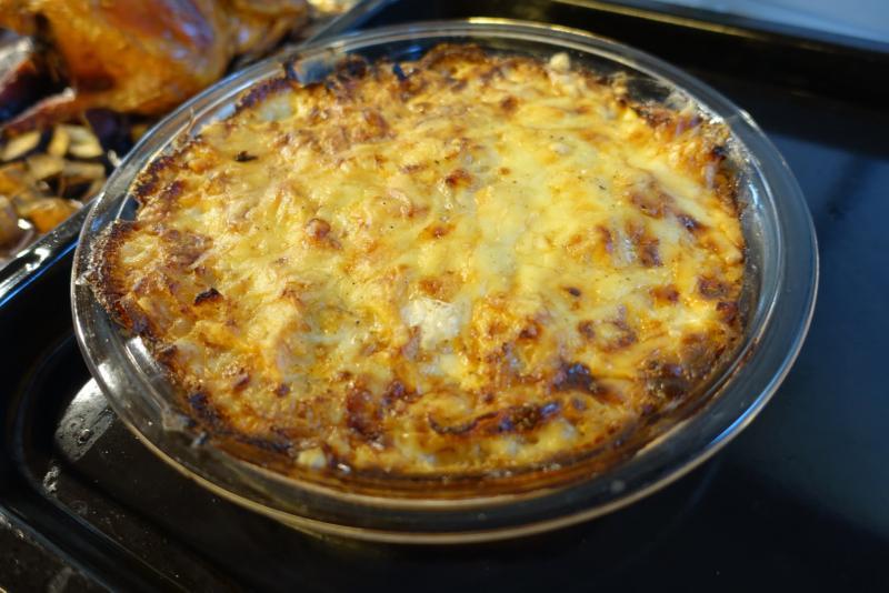 チーズをのせてオーブンで焼きました