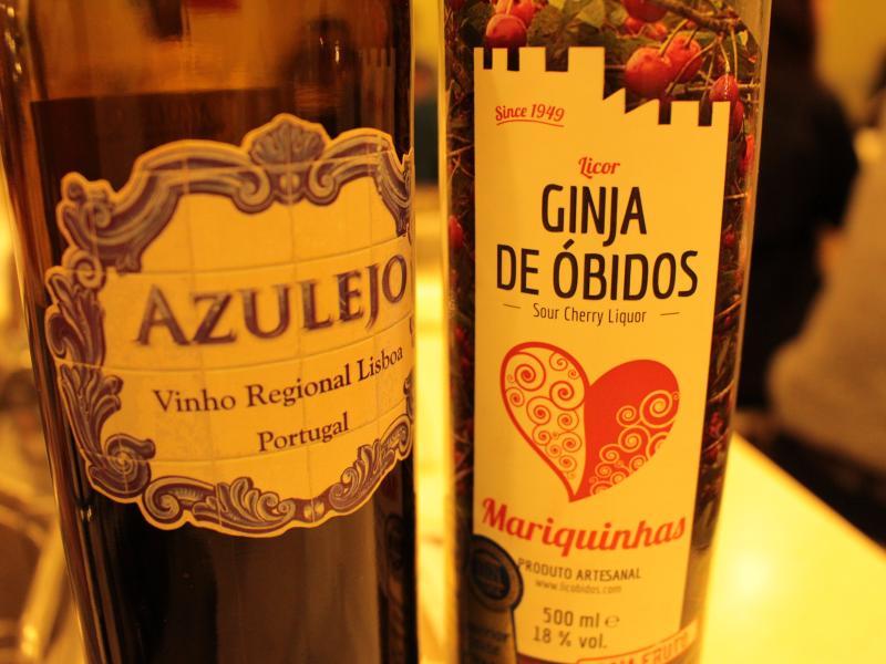 美味しいワインとジンジーニャ(チェリーリキュール)