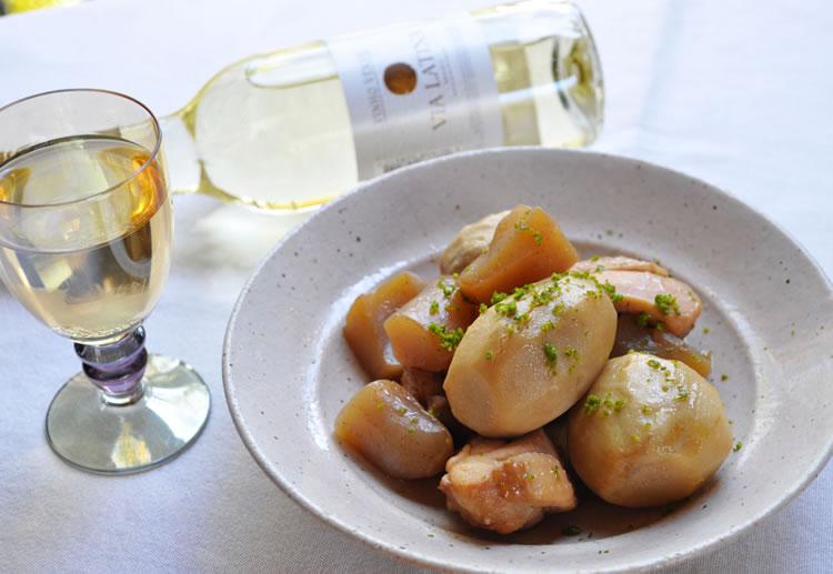 ヴィーニョ・ヴェルデと和食 「里芋とこんにゃくの煮物」