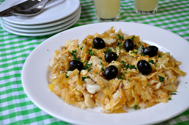 ポテトチップスで作るポルトガル伝統料理