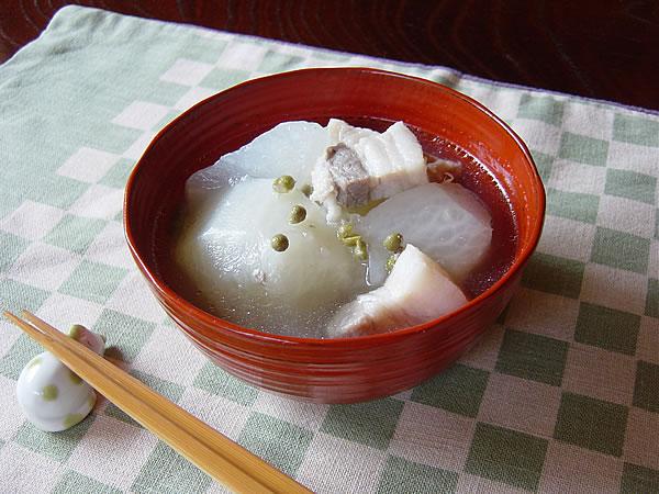 大根と塩豚と山椒のスープ