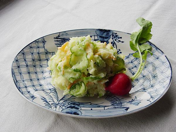 ポテトサラダにオリーブオイル~オリーブオイル風味のポテトサラダ