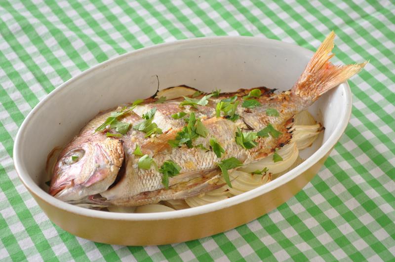ポルトガルで出合った鯛のオーブン焼き
