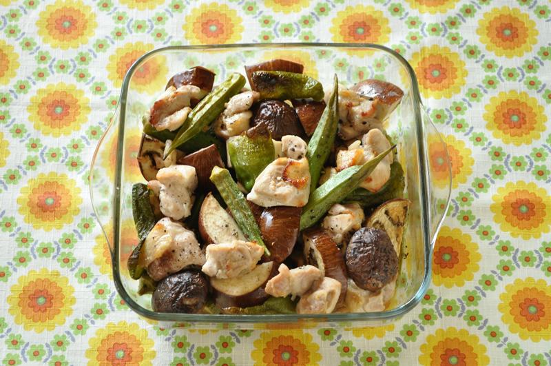 家電におまかせ! 夏野菜とチキンのオーブン焼き