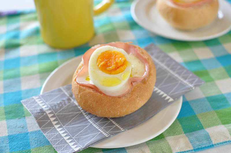 朝食にぴったりの卵パン