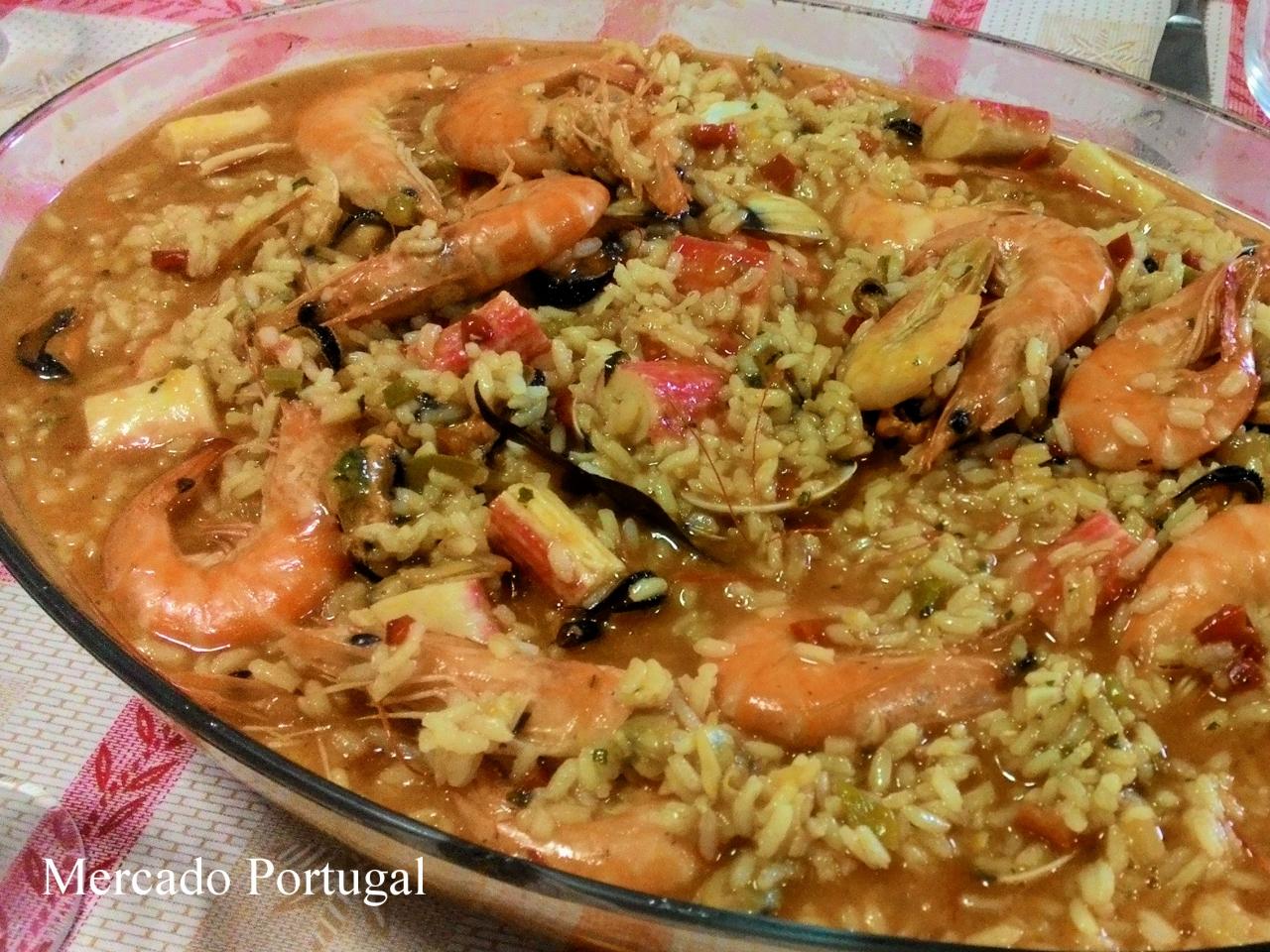 私が大好きな海鮮リゾット(アローズ・デ・マリシュコArroz de marisco)