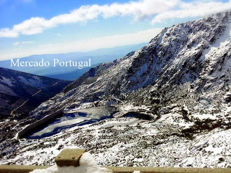星の山脈、セラ・ダ・エストレイラはポルトガルの中でも寒く、冬には雪が降ります。