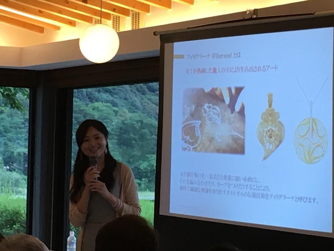 最後に、美しい金銀伝統アクセサリー・フィリグラーナの輸入者桐山さんのお話