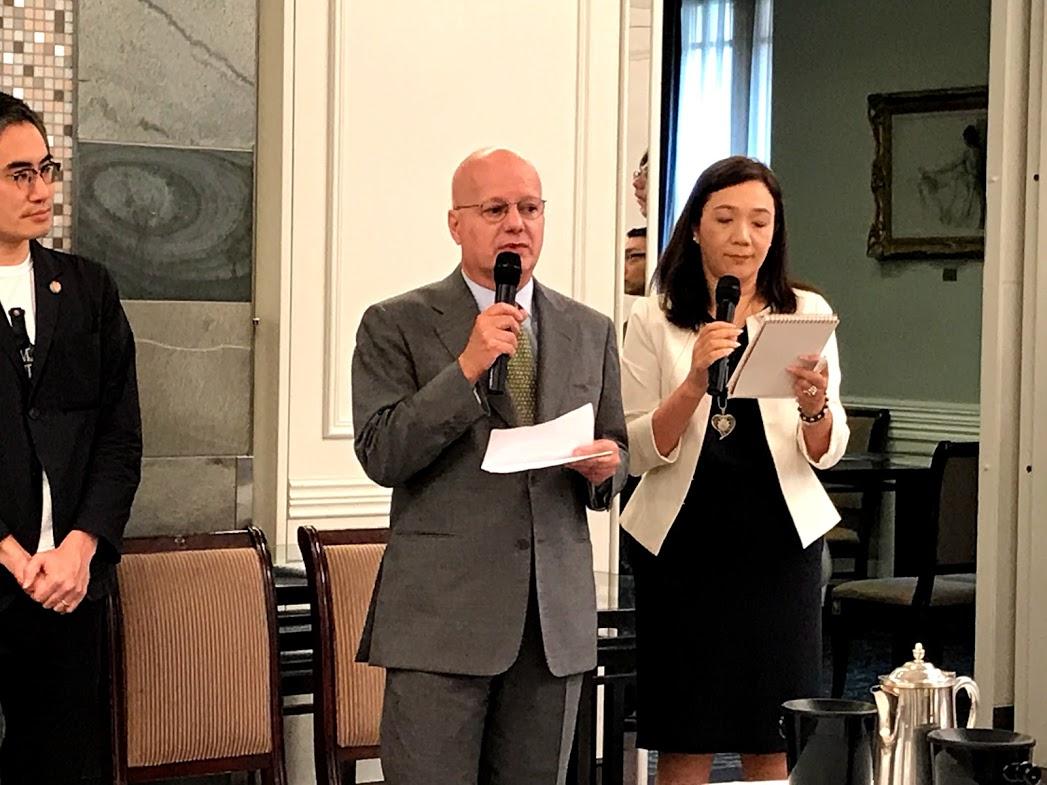 ポルトガル大使から温かいお言葉をいただきました