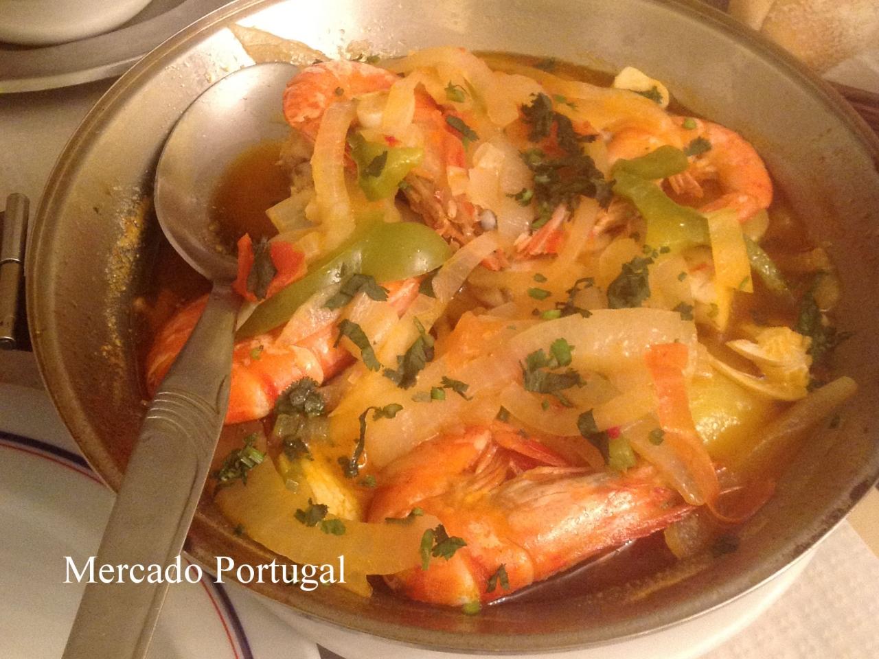 野菜と魚介の旨味がぎゅっと凝縮した定番の組み合わせ(リスボンのレストランにて)