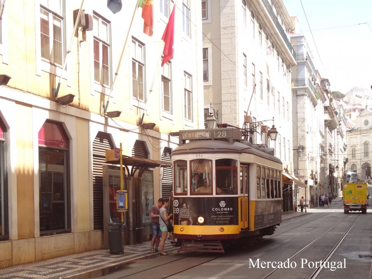 リスボンの観光スポットを回るのに便利な28番トラム。