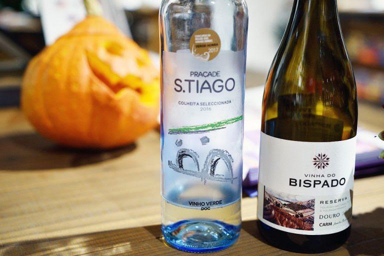 ワインは微発泡白プラサ・デ・サンティアーゴとフルボディの赤ビスパード・ティント・レゼルヴァ
