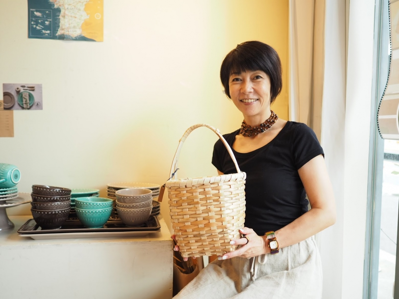 昨年の秋以来久しぶりの出店となったボルダロ・ピニェイロの陶磁器と限定品のカゴ