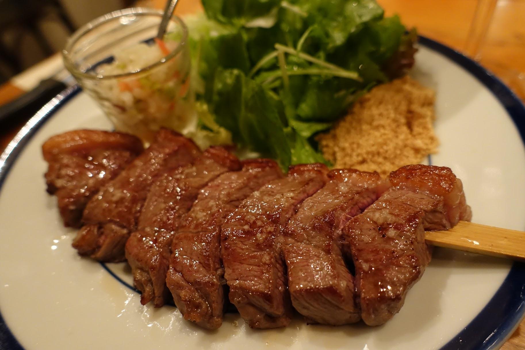 牛イチボ肉のピッカーニャ串焼き 赤身で柔らかくて美味しい♪
