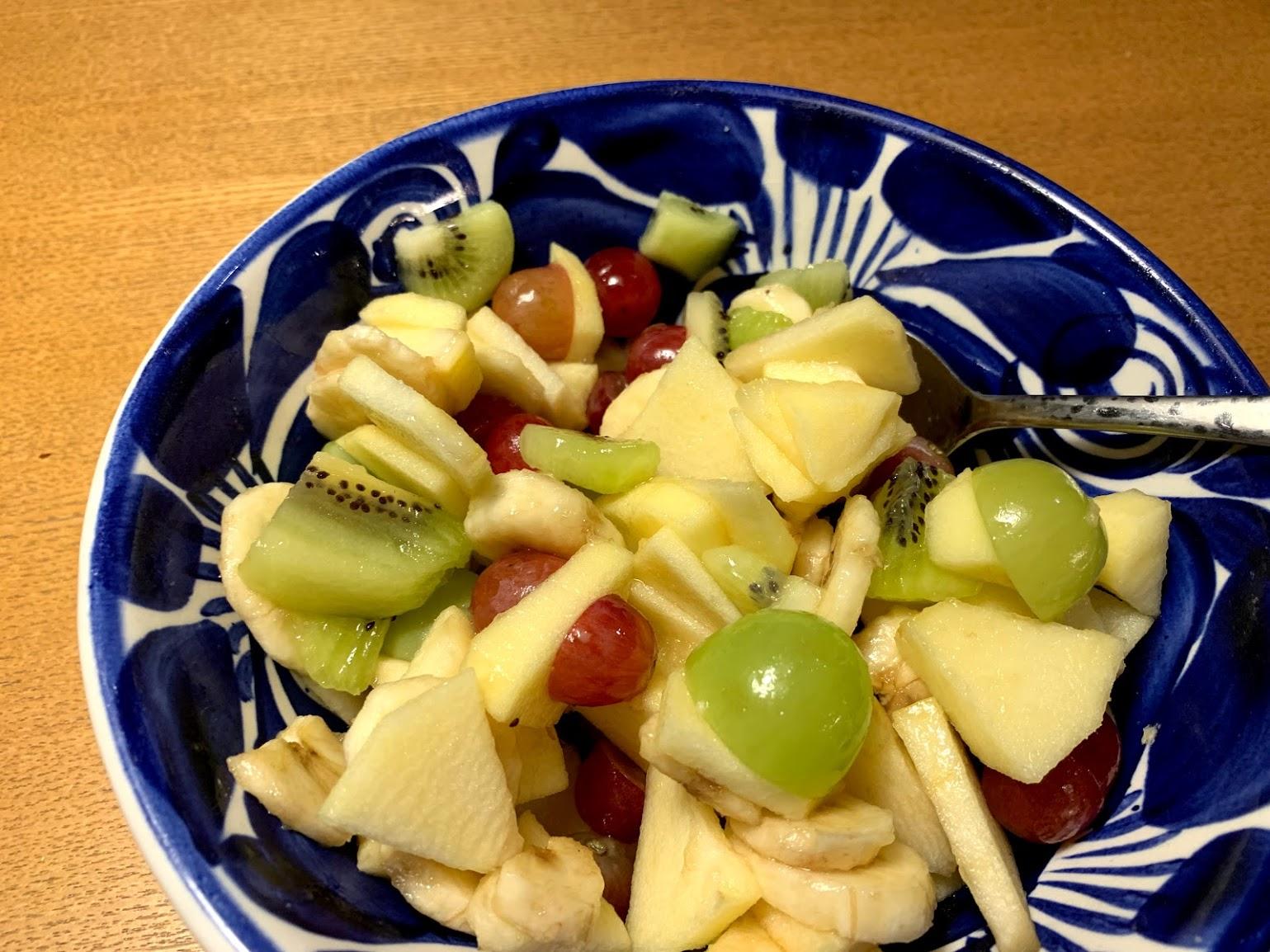 デザートもポルトガルスタイルにしてフルーツ・サラダを用意しました