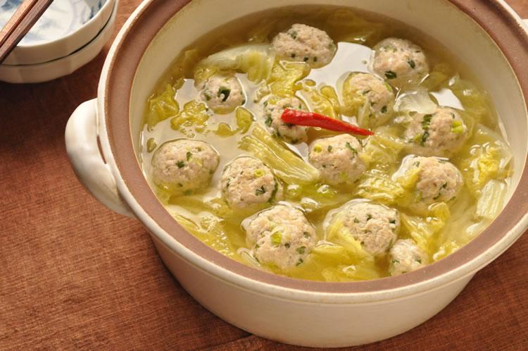 白菜の肉だんご鍋